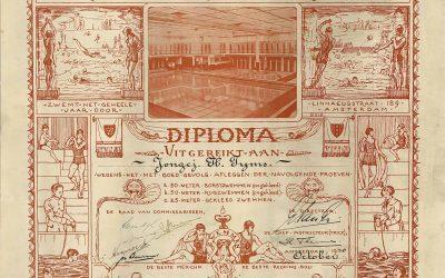 Toen zwemdiploma's nog echte kunstwerkjes waren (1930)