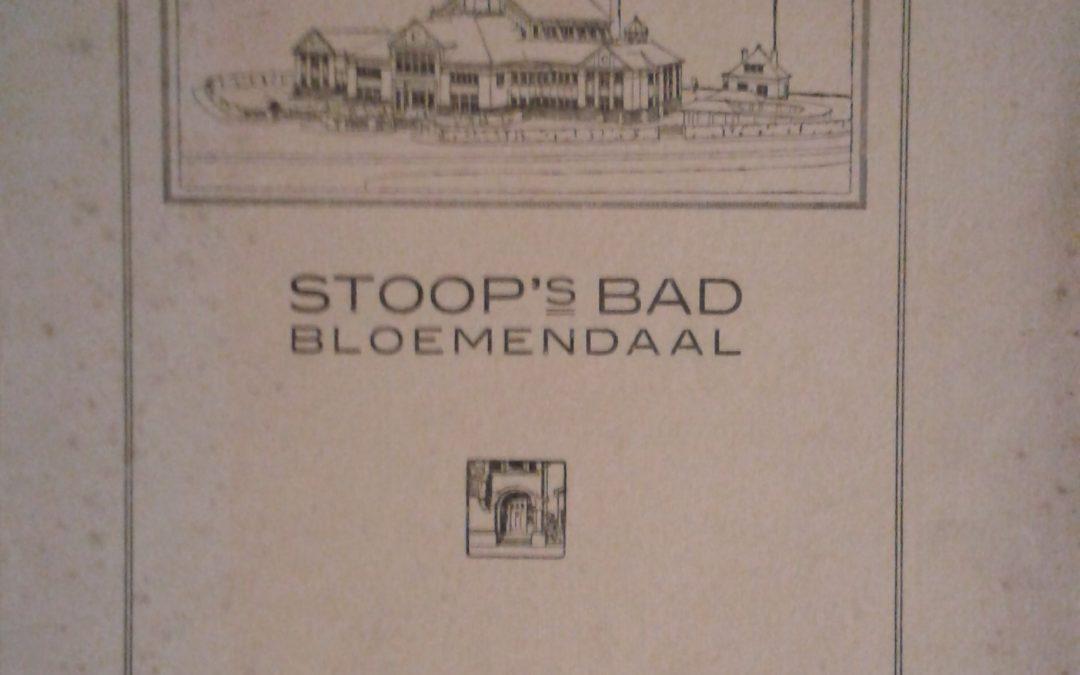 Stoop's bad Bloemendaal : kort historisch overzicht van het ontstaan en de ontwikkeling van bad- en zweminrichtingen – Ed. Cuypers (1923)