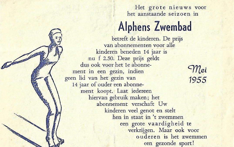 Bad-rooster Alphens zwembad (1955)