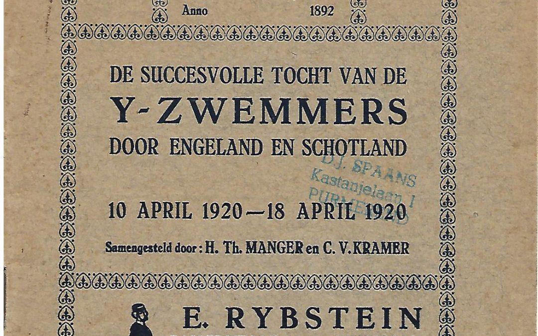 H.Th. Manger en C.V. Kramer – De succesvolle tocht van de Y-zwemmers door Engeland en Schotland (1920)