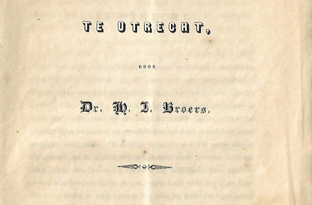 H.J. Broers – Beschrijving der zwem- en bad-inrigting te Utrecht (1846)