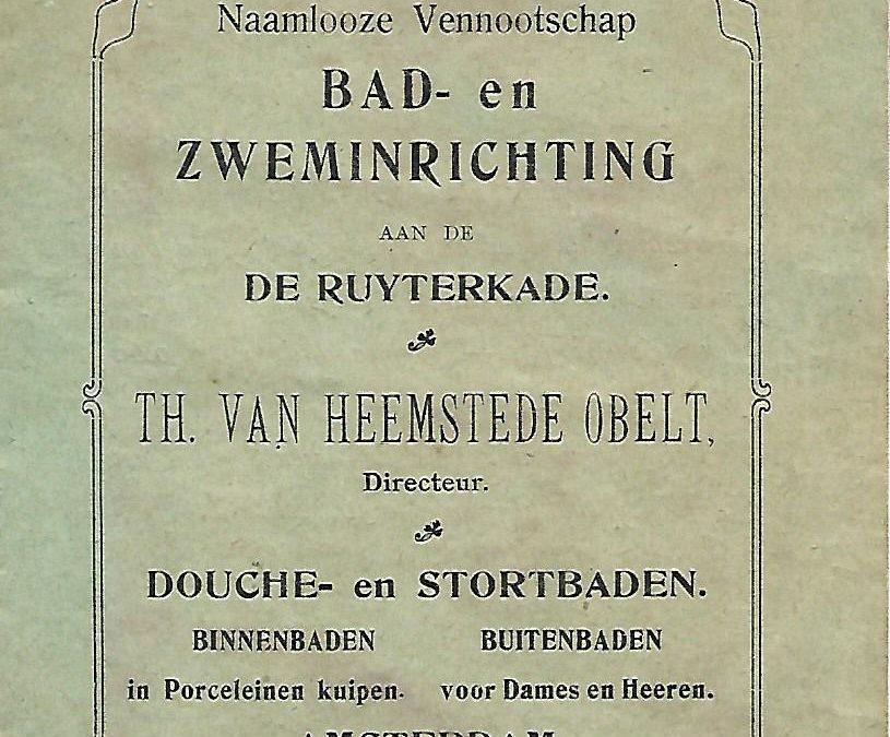 Brochure – NV Bad- en Zweminrichting Th. van Heemstede Obelt (1904-1911)