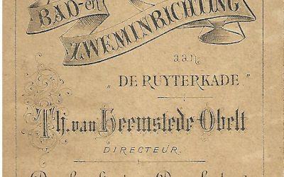 Brochure – Bad- en zweminrichting Th. van Heemstede Obelt (1882)