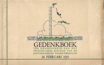 Gedenkboek ter gelegenheid van het twintigjarig bestaan van de Rotterdamsche Dames-Zwemclub 26 februari 1933