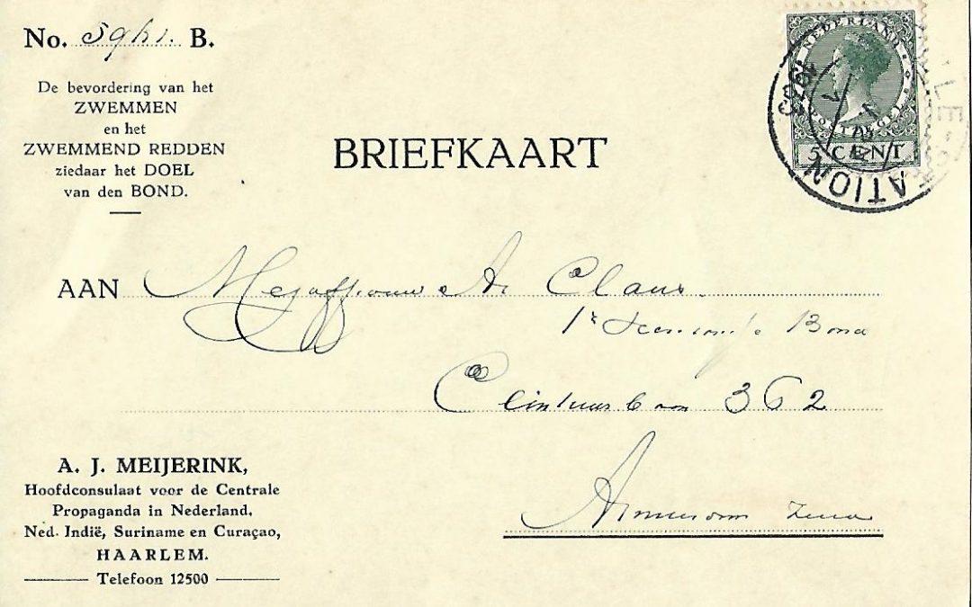 Briefkaart – Hoofdconsulaat Centrale Propaganda NBRD (1933)
